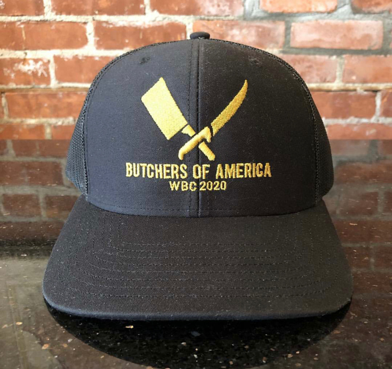 "Butchers of America - WBC2020 Hat - Black & Gold ""Special Edition"""