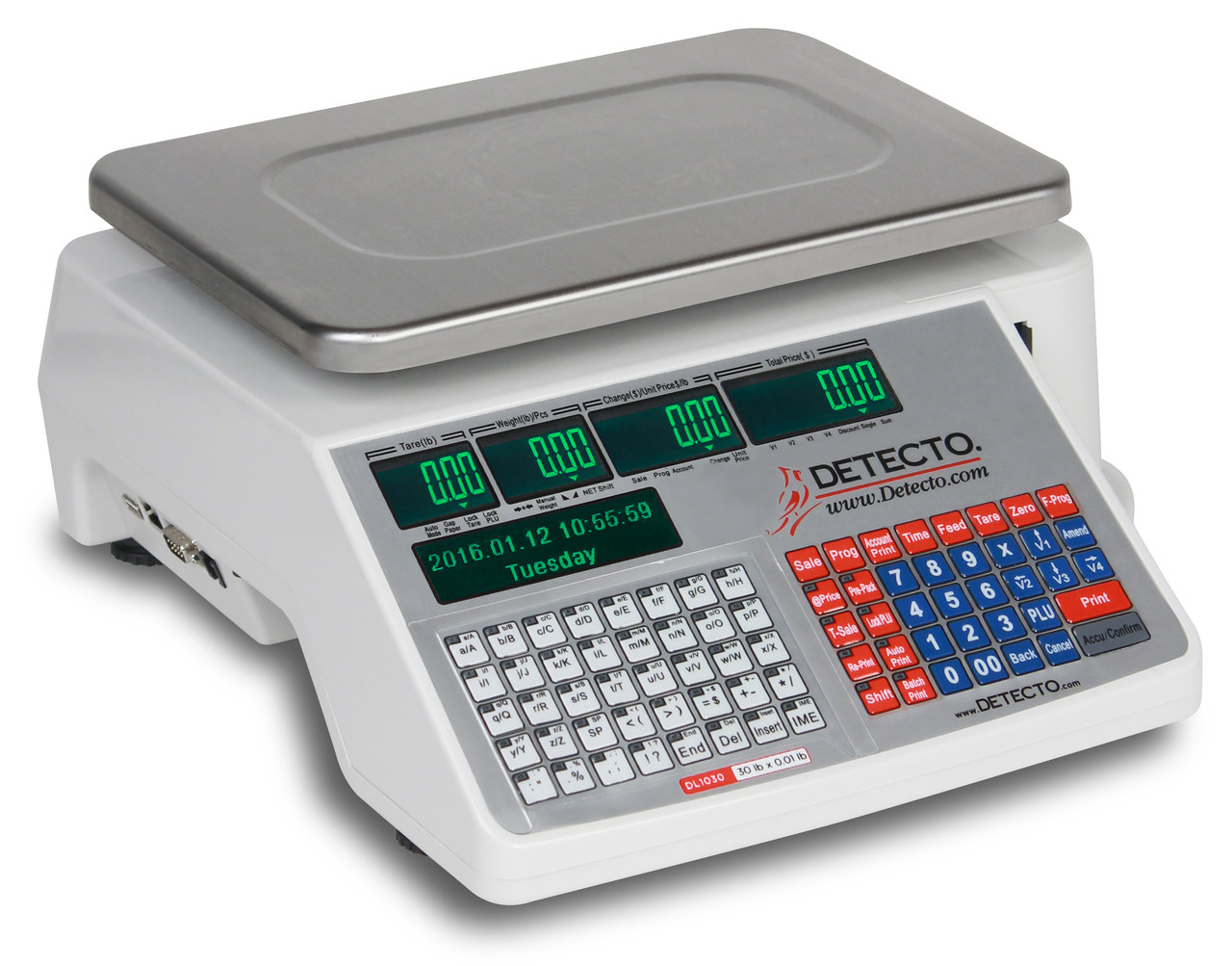 Detecto DL1030 30lb. Label Printing Scale