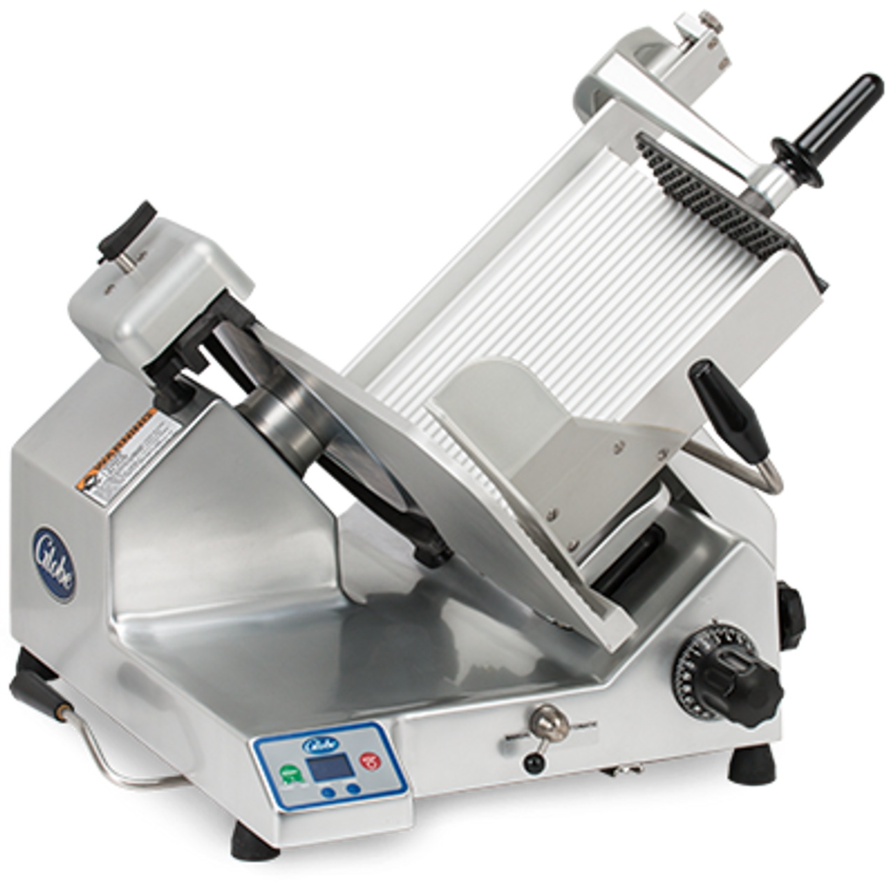 "Globe S13A-F -- 13"" Heavy Duty Automatic Gravity Feed Slicer ""Frozen"" - 1/2 HP"