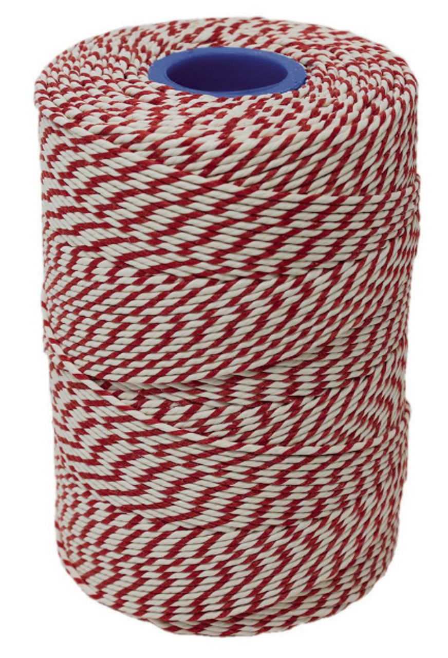No.5 Red & White Butchers String/Twine - Henry Winning