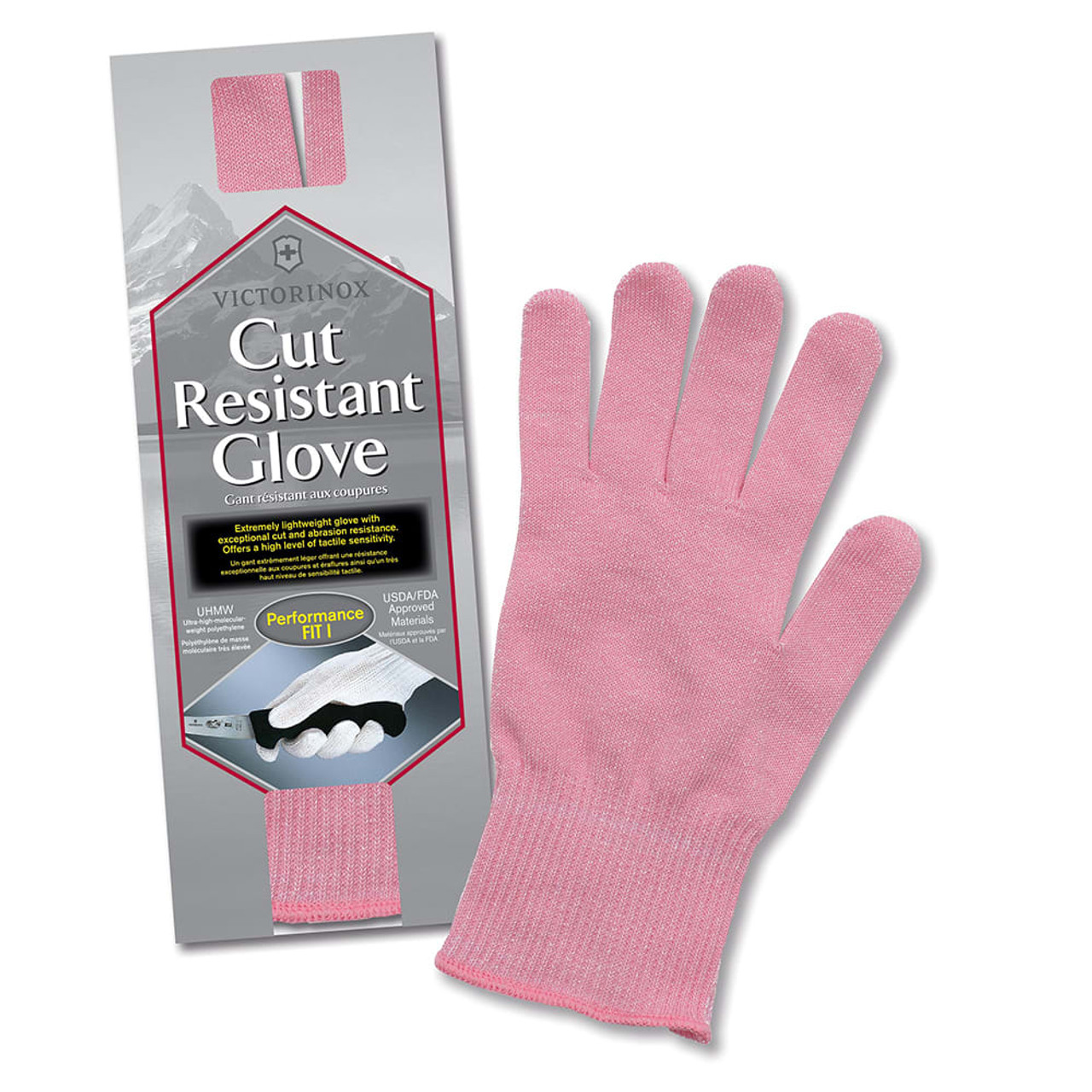 """Victorinox - Cut Resistant Glove  """"Pink"""" - One Size Fits Most - 7.9048.5"""