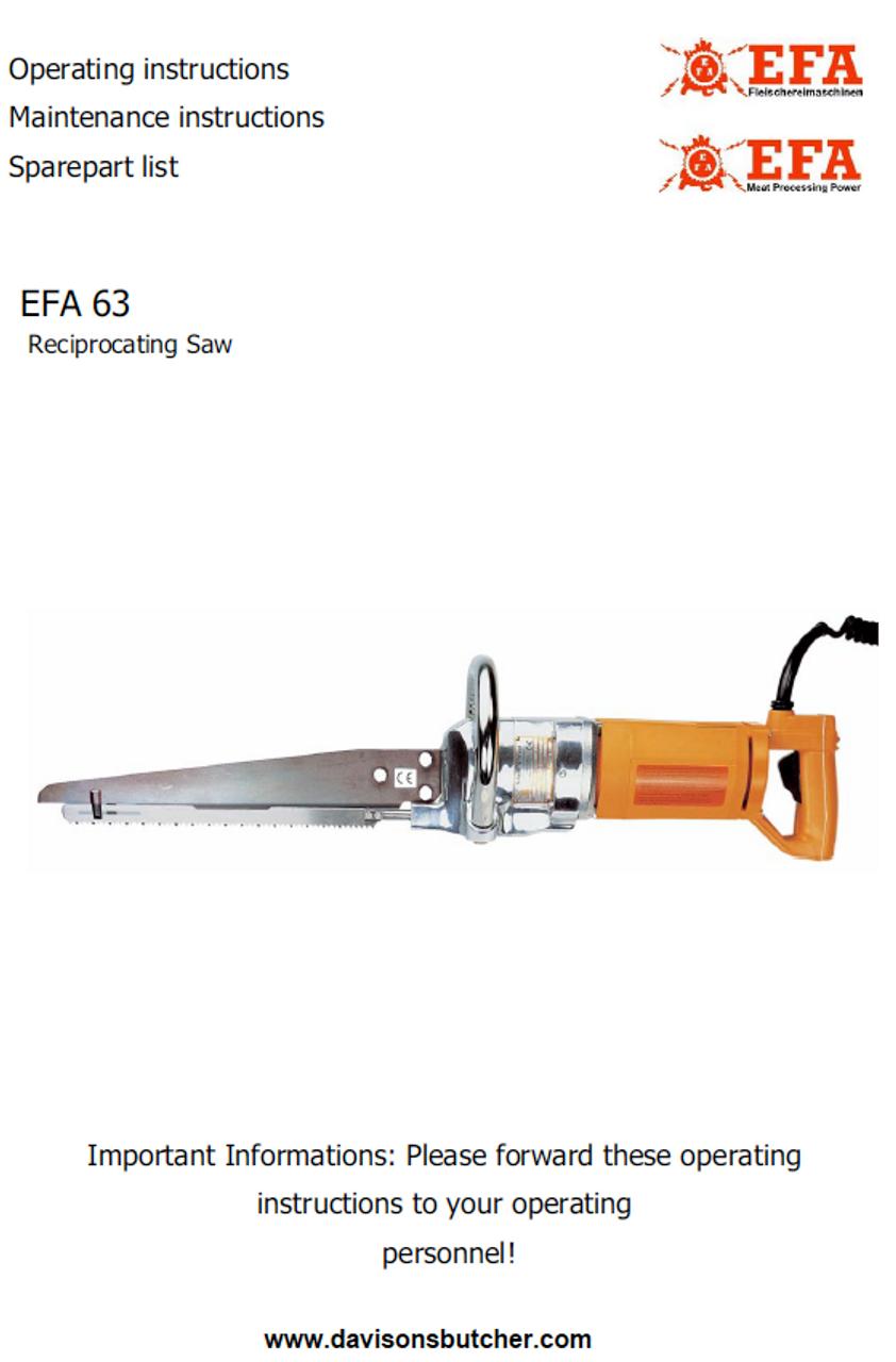 EFA 63 Parts List