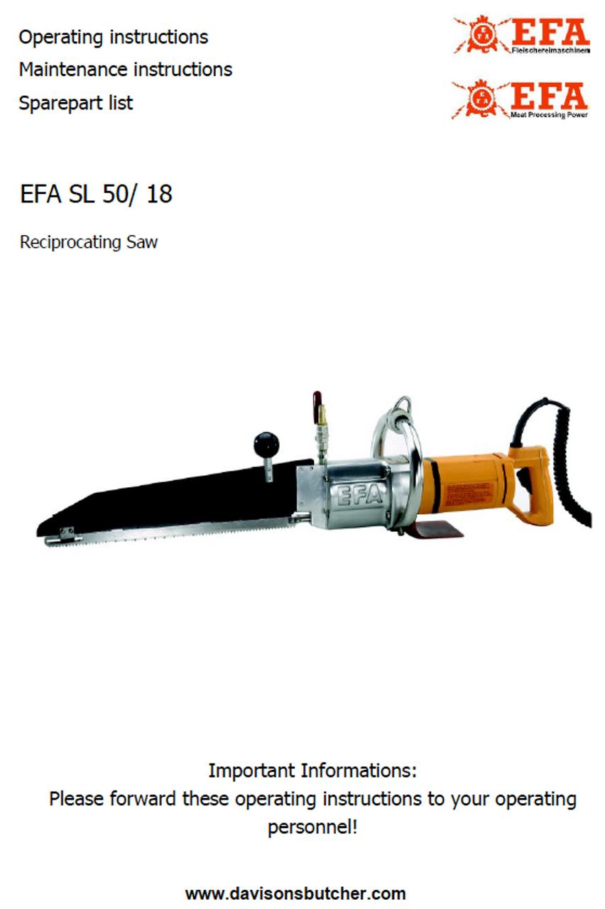 EFA SL 50-18 Parts List