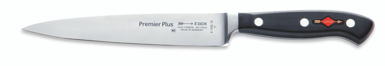 """F.Dick - 7"""" Carving / Slicer Knife """"Forged"""" - 8145618 - """"Black"""""""