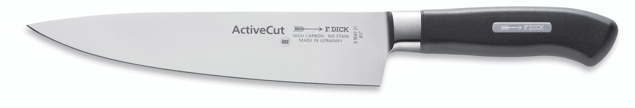 """F.Dick - 8-1/2"""" Chef's Knife - Forged - """"ActiveCut"""" - 8904721 - """"Black"""""""