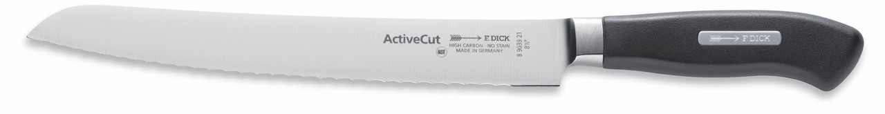 """F.Dick - 8-1/2"""" Bread Knife """"Serrated Edge"""" - Forged - """"ActiveCut"""" - 8903921 - """"Black"""""""