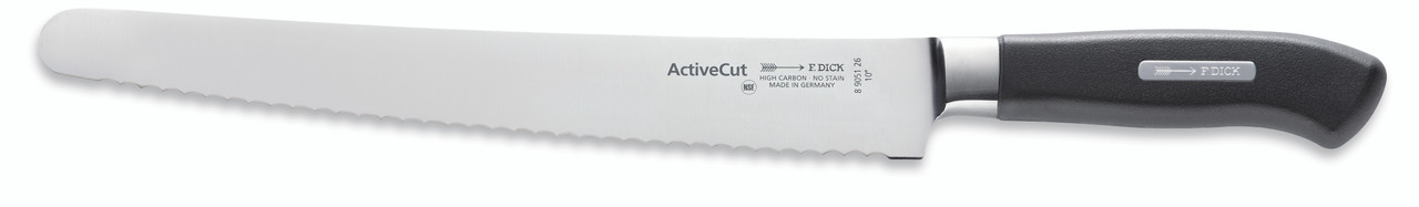 """F.Dick - 10"""" Utility Knife """"Serrated Edge"""" - Forged - """"ActiveCut"""" - 8905126 - """"Black"""""""