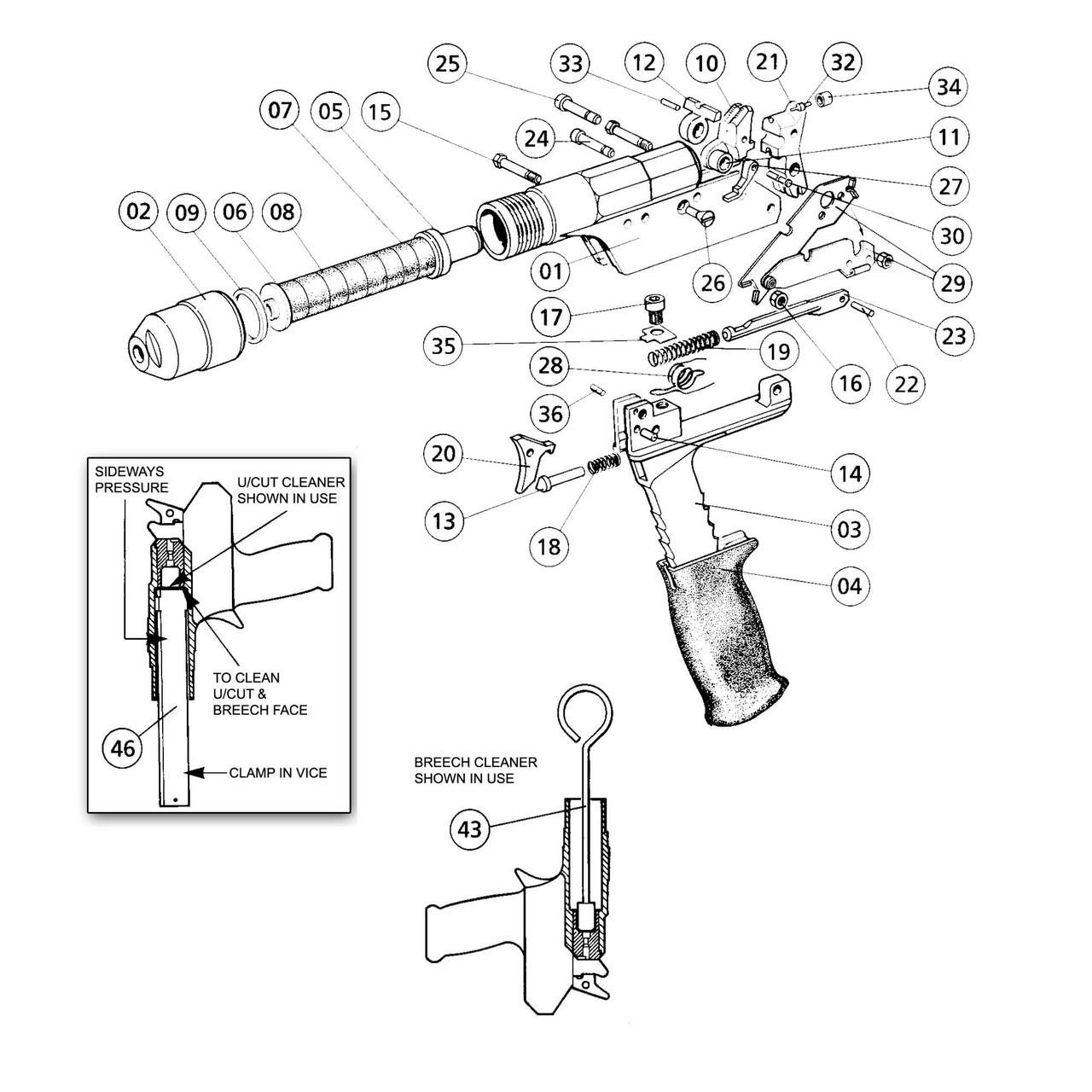 Accles & Shelvoke - CASH® Special .25 Caliber Heavy-Duty Stunner - Regular Bolt