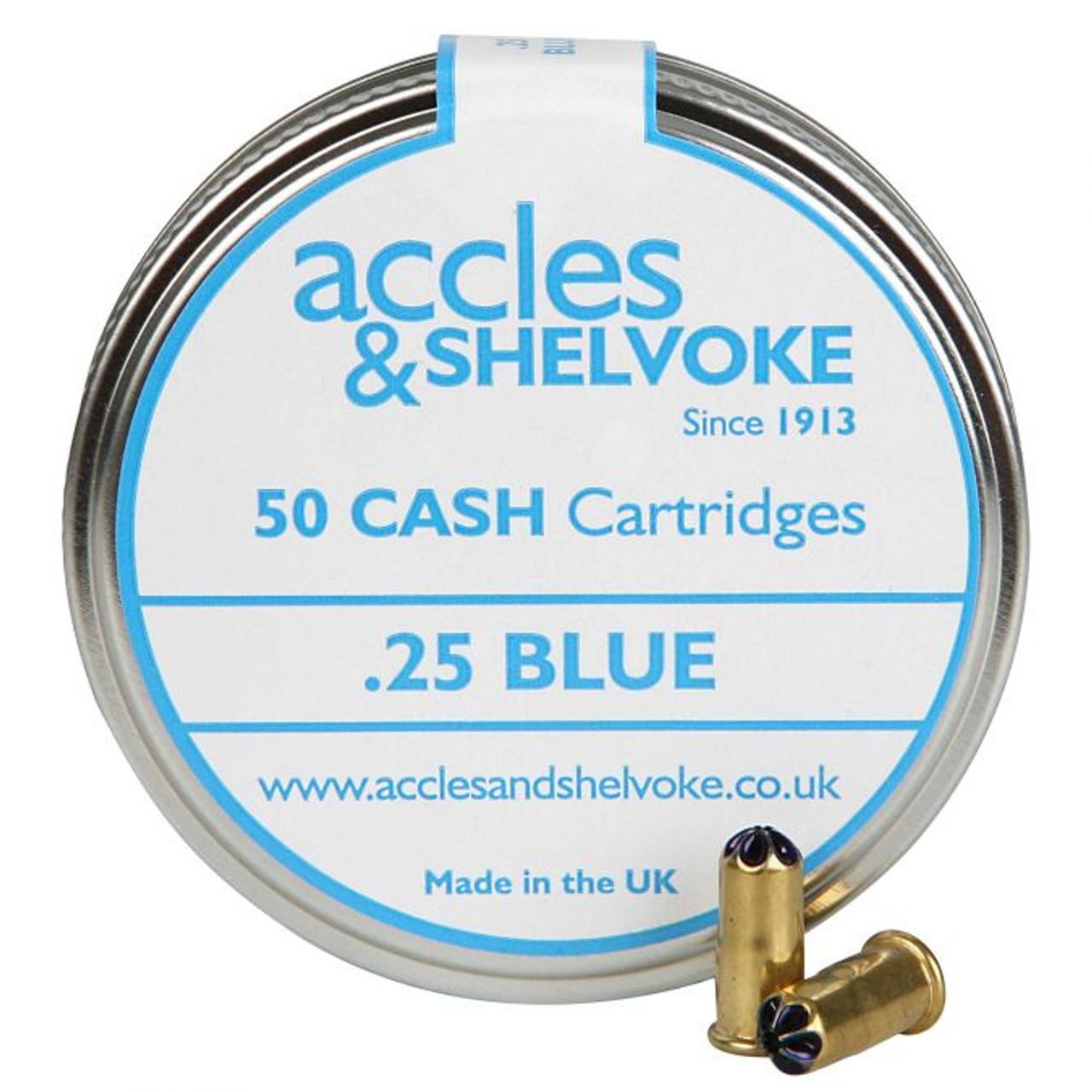 Accles & Shelvoke CASH® .25 Caliber Blue 3 Grain Cartridges - 50/Tin - 250-400 lbs. (Market Hogs, Calves)