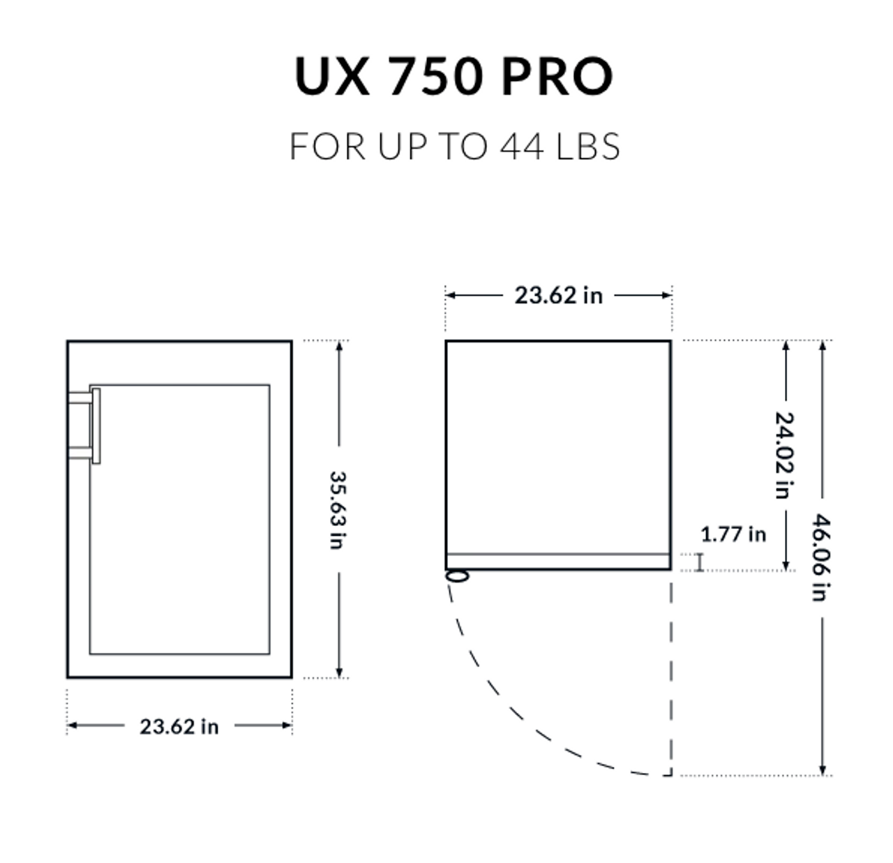 Dry Ager UX 750 Pro - Up to 44 lbs.