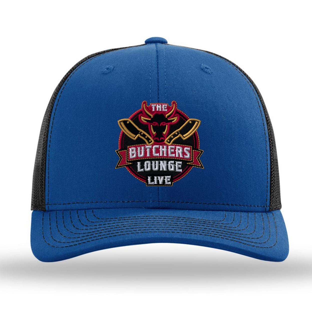 """The Butcher's Lounge Live"" -  Richardson 112 Trucker SnapBack - Royal/Black"