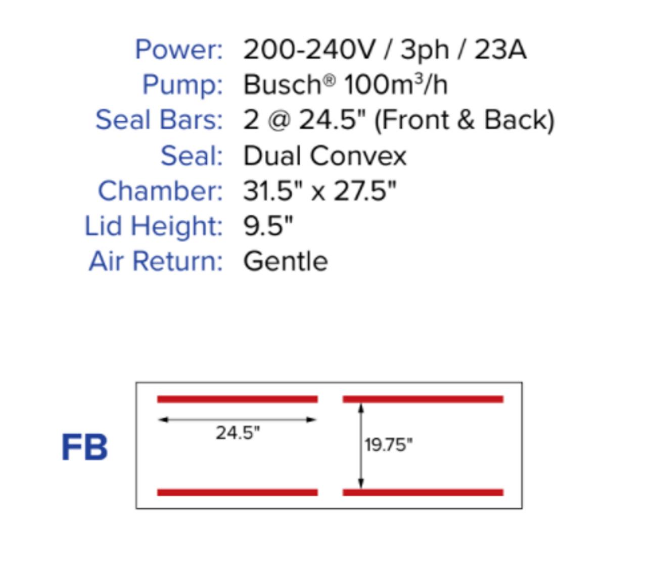 MiniPack MV620 VacBasic - Double Chamber Vacuum Sealer