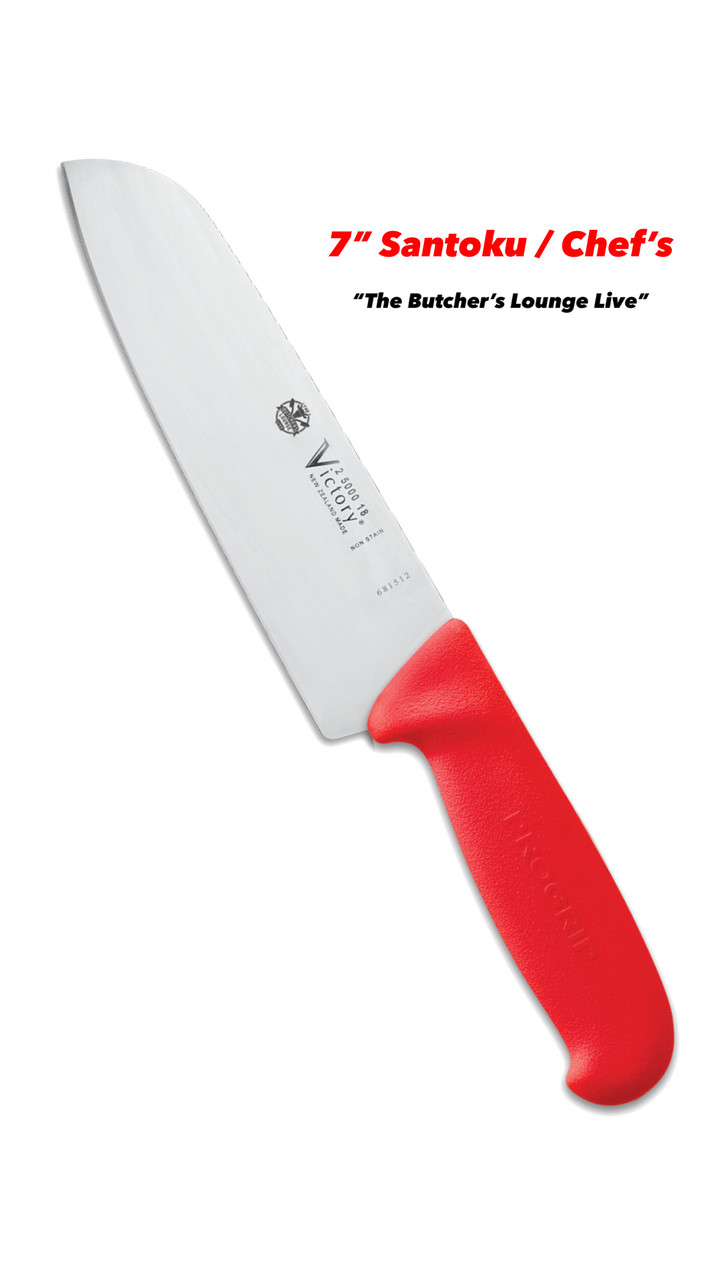 "7"" - 18cm -- Santoku Chef's Knife - 2/5000/18/200R - ProGrip - ""Red"" - TBLL"