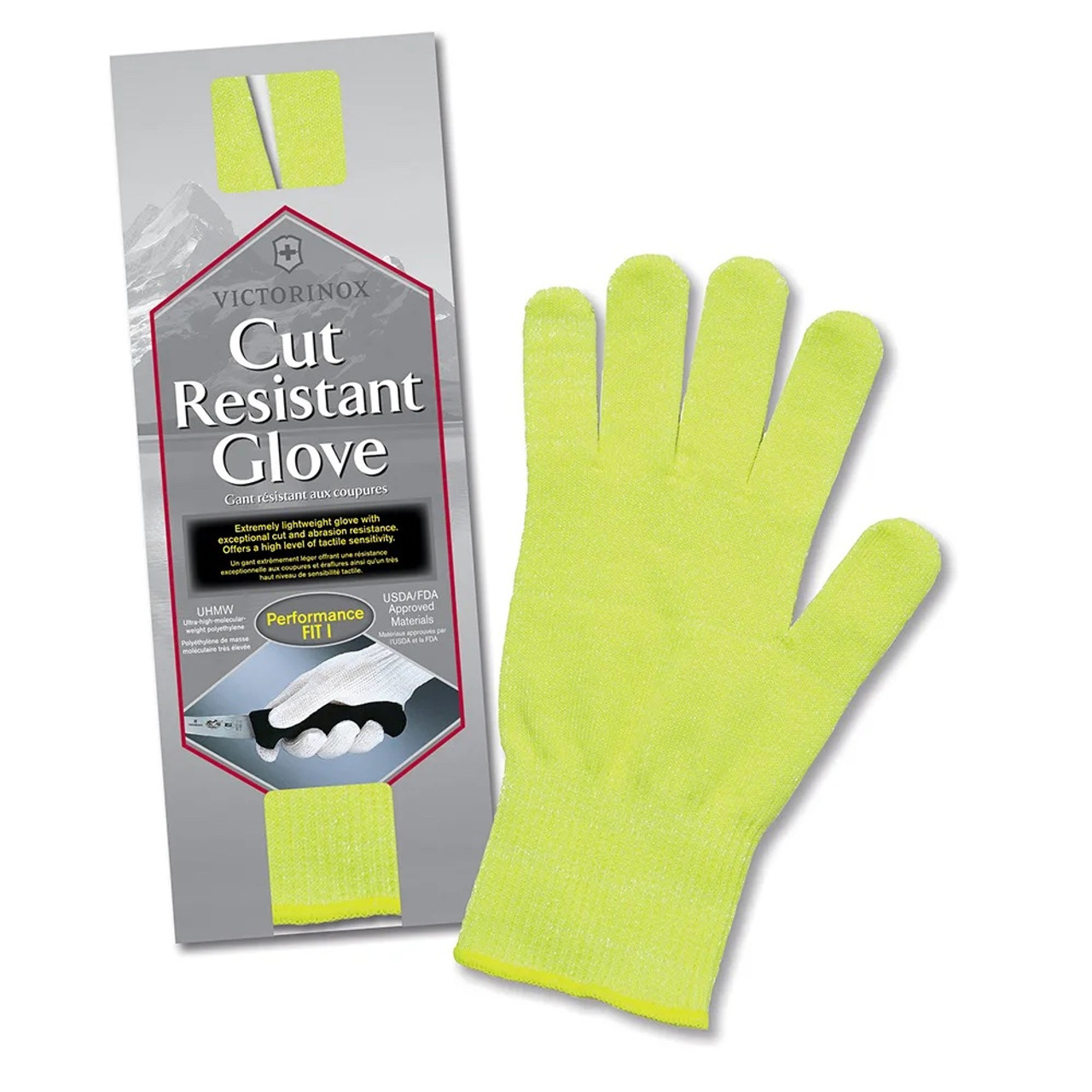 """Victorinox - Cut Resistant Glove  """"Yellow"""" - One Size Fits Most - 7.9048.6"""
