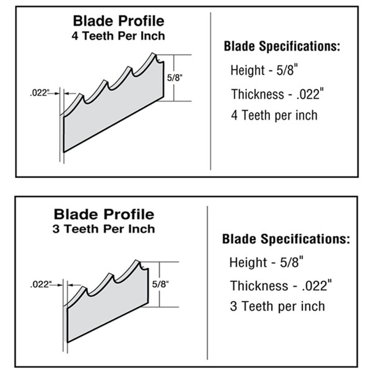 116'' Meat Band Saw Blades - ProCut KSP-116, KS-116 - Tor-Rey ST-295PE, ST-295AI - Biro 33 - Hudson 116