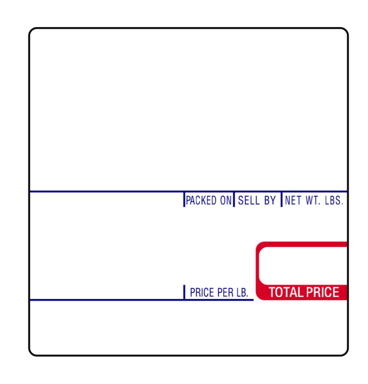 CAS Label LST-8020 58x60mm UPC/Ingredients