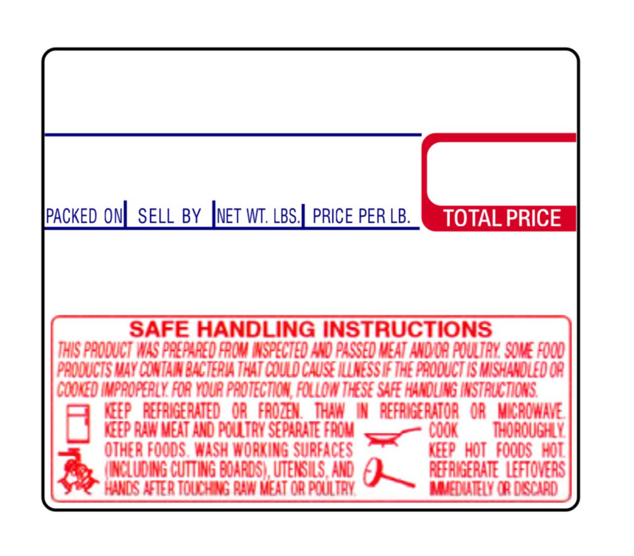 CAS Label LST-8030 58x50mm Non UPC/Safe Handling