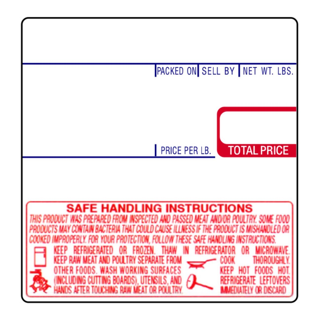 CAS Label LST-8040 58x60mm UPC/Safe Handling