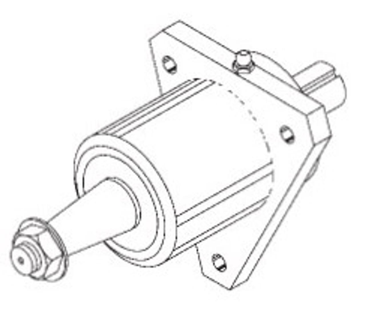 Butcher Boy B12,B14,B16 & SA16 - Lower Wheel Main Bearing Housing Assembly - BB123A