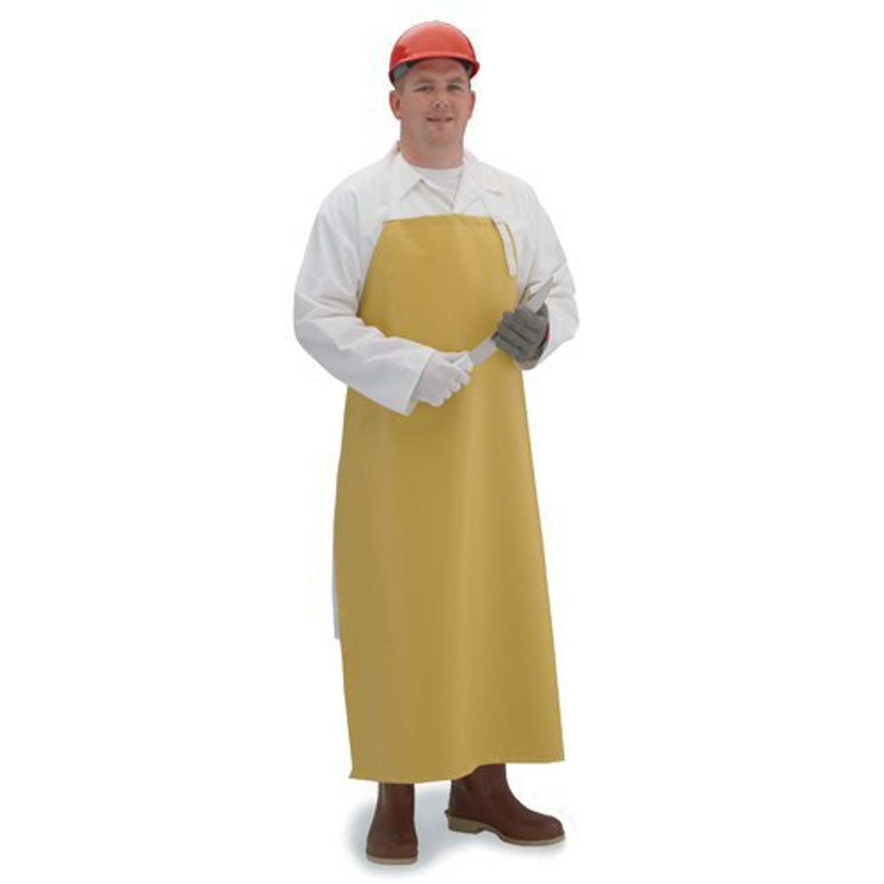 Food & Chemical Resistant Neoprene Yellow Apron