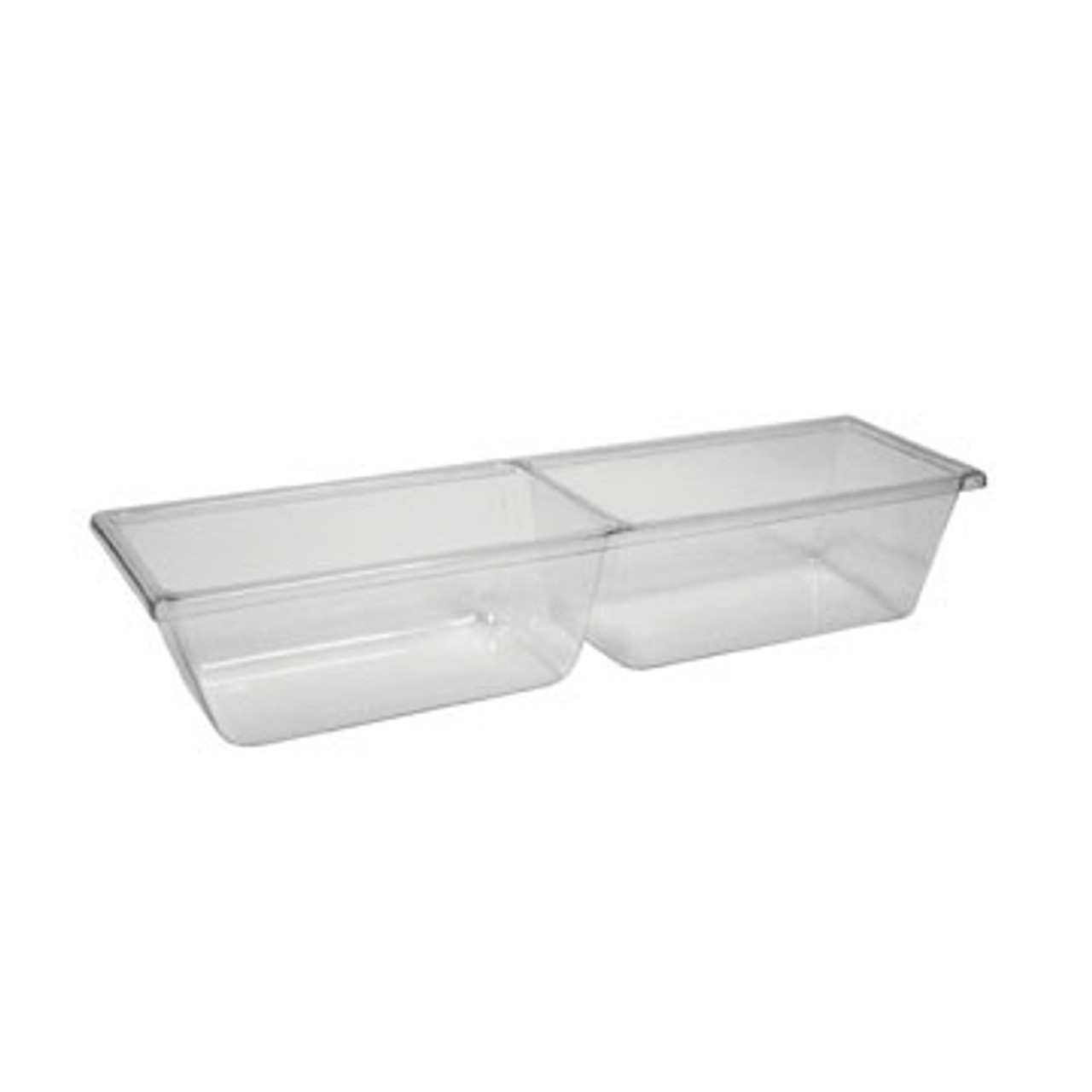 Two Compartment Molded Clear Pan