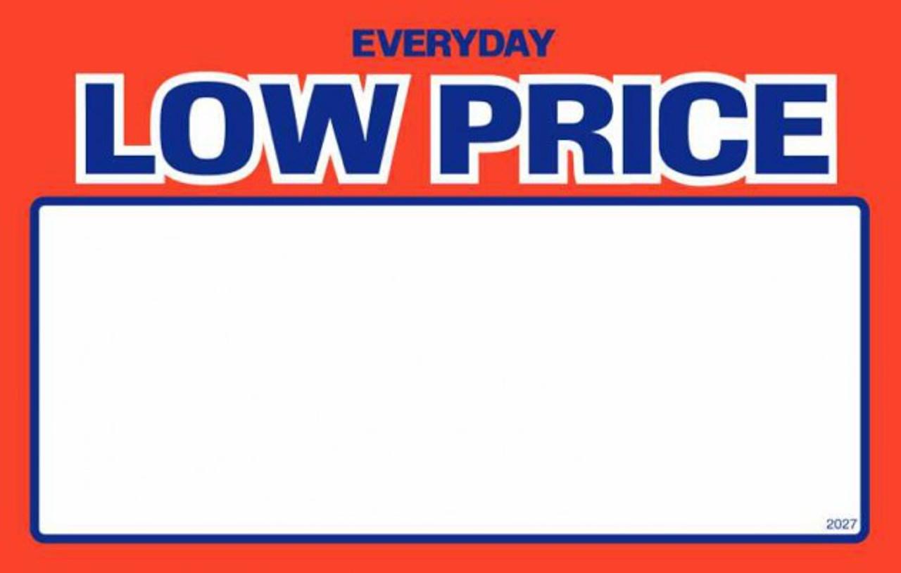Price Card - Everyday Low Price 5.5'' x 7''