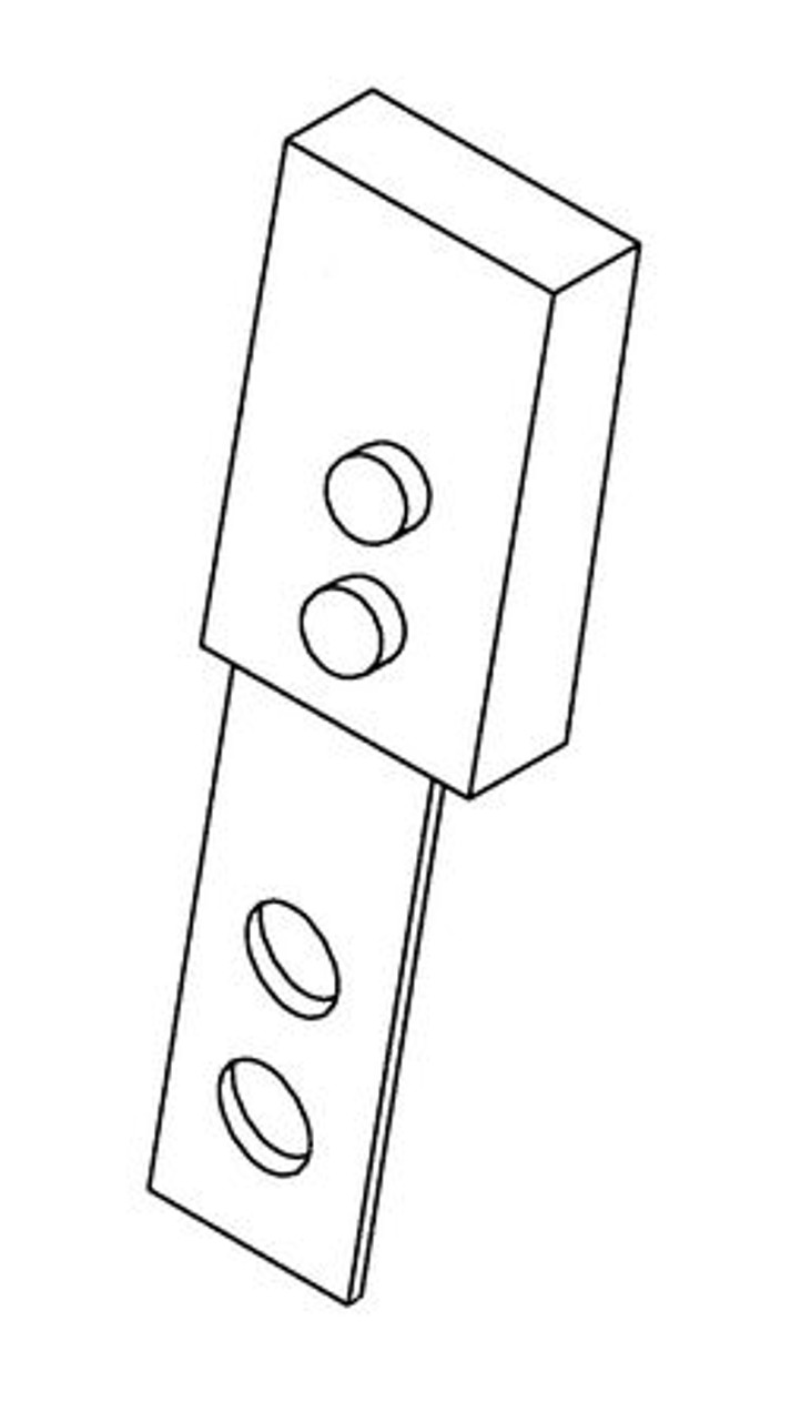 Hobart Fiber Blade Scraper Assembly - H184A - Model: 5700,5701,5801,6614,6801