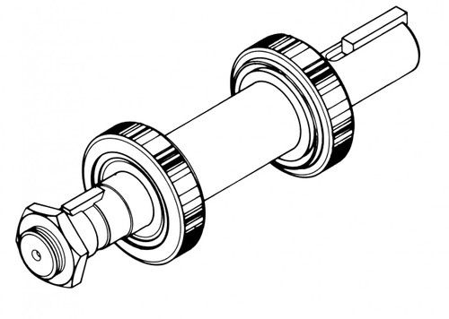 Biro Saw - Lower Shaft & Bearing Assembly - All Models