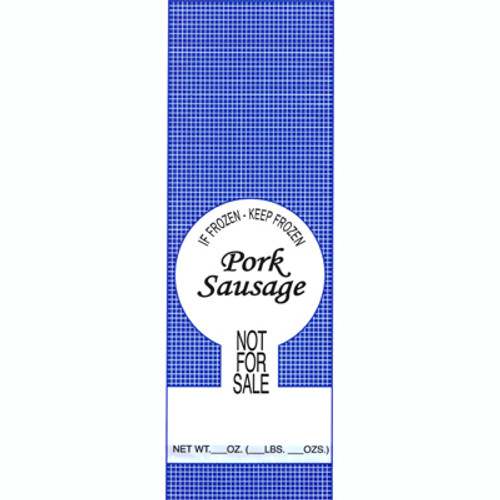 "1lb. Pork Sausage Meat Bags 1000ea. - Pork Sausage ""Not For Sale"""
