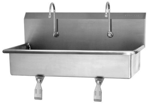 SANI-LAV 54W1 2-Person Wash Station - Stainless Steel - Wall Mount