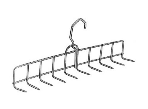 "Stainless Steel Bacon Hanger (11 1/2"") - 10 Prongs"