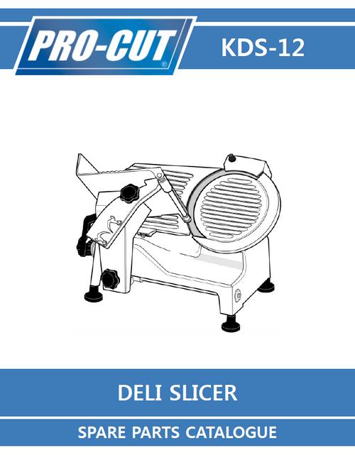 ProCut KDS-12 Meat & Deli Slicer Parts List