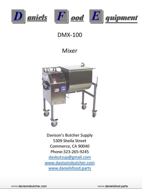DanielsFood DMX 100 Mixer  Parts - Parts List