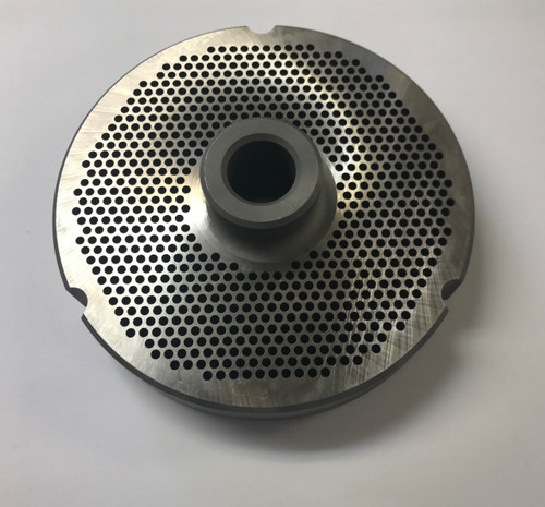 "#52 Speco Meat Grinder Plate with 7/64'' Holes - ""Hub Plate"" - 103403"