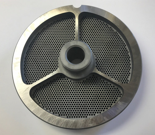 """#56 Speco Meat Grinder Plate with 5/64'' Holes - """"Hub Plate"""""""