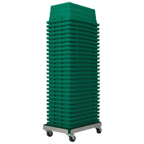 """Aluminum """"Empty"""" Tote Dolly - Up to 25 Empty Totes"""