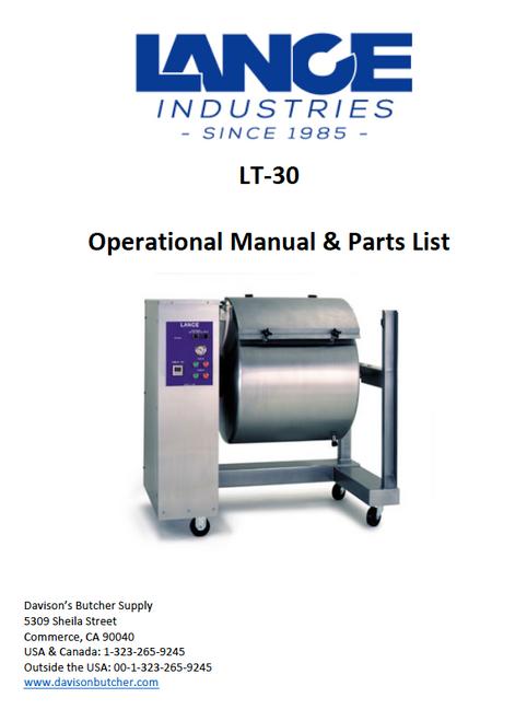 LT-30 - Lance Tumbler Operational Manual & Parts List