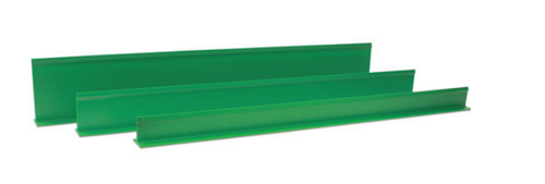 Plastic Dividers - All Green 5'' High