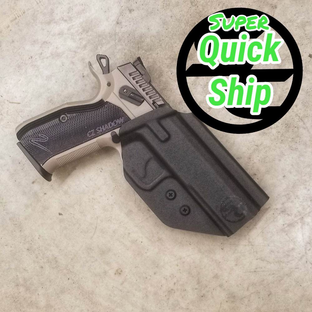 CZ Shadow 2 OWB Holster Black  (Super QuickShip)