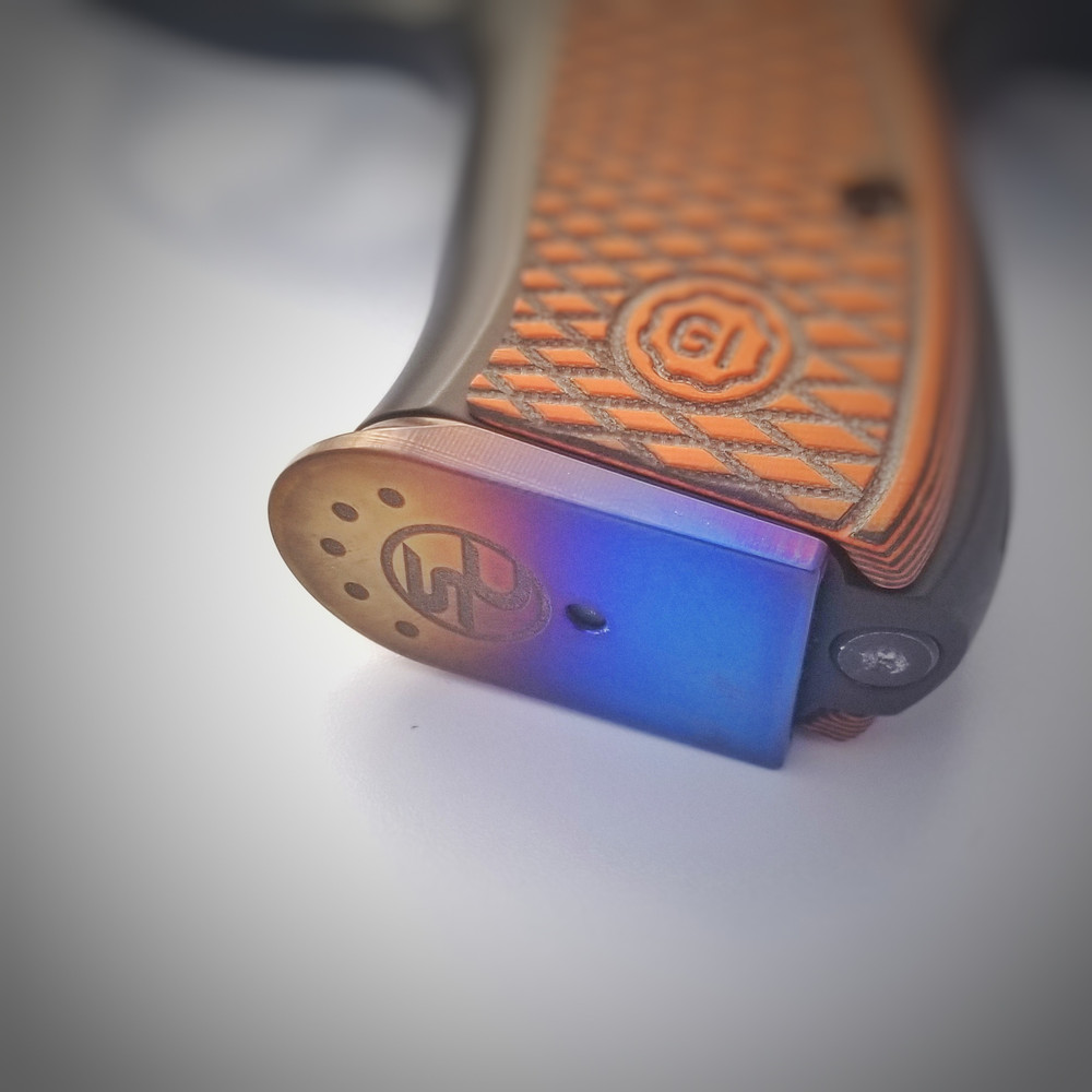 CZ 75 Magazine Base Plate (Flame Anodized Titanium)