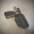 CZ Shadow 2 OWB Holster Basketweave Black  (Super QuickShip)