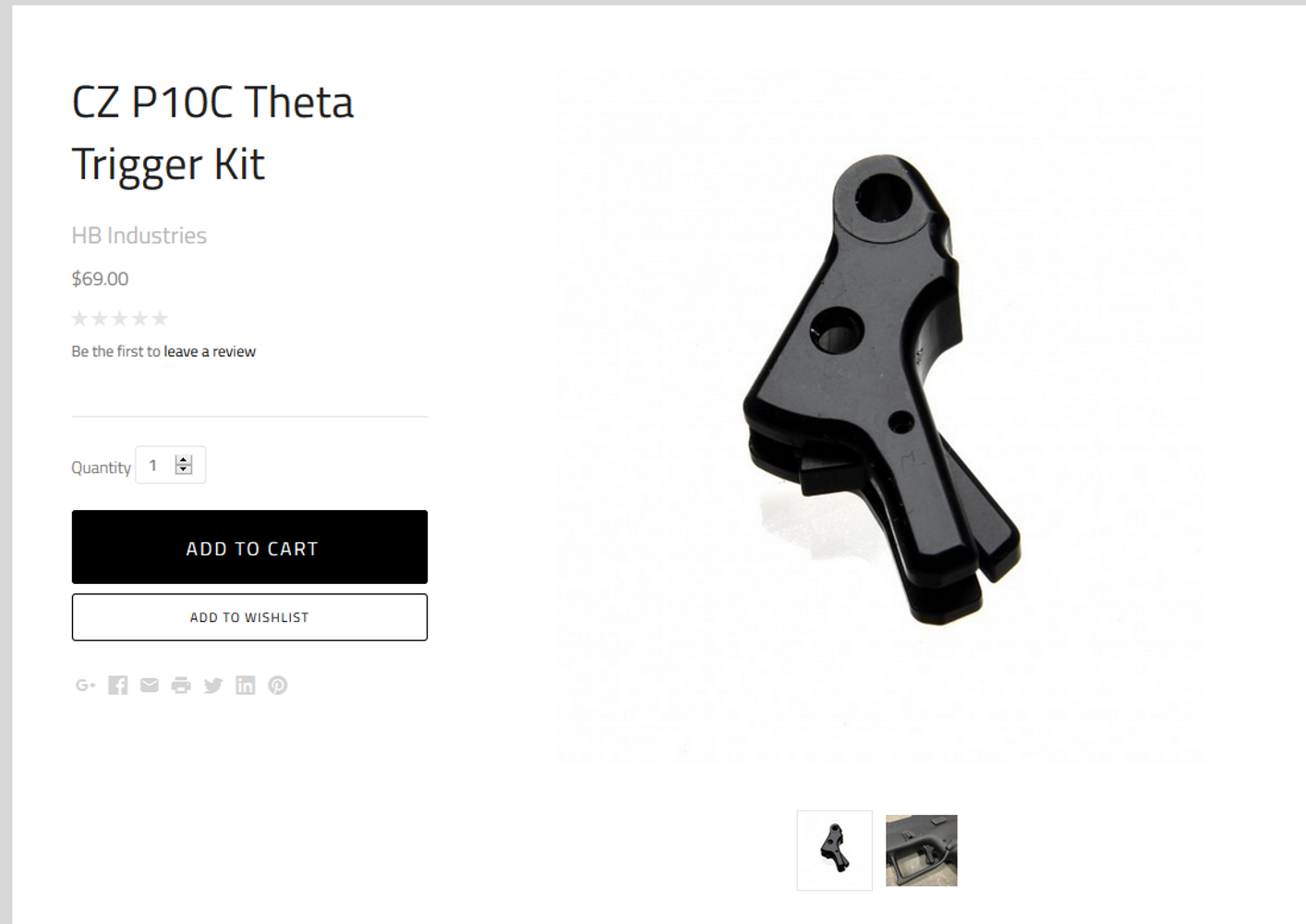 P10 Theta Triggers Finally in Stock!!!