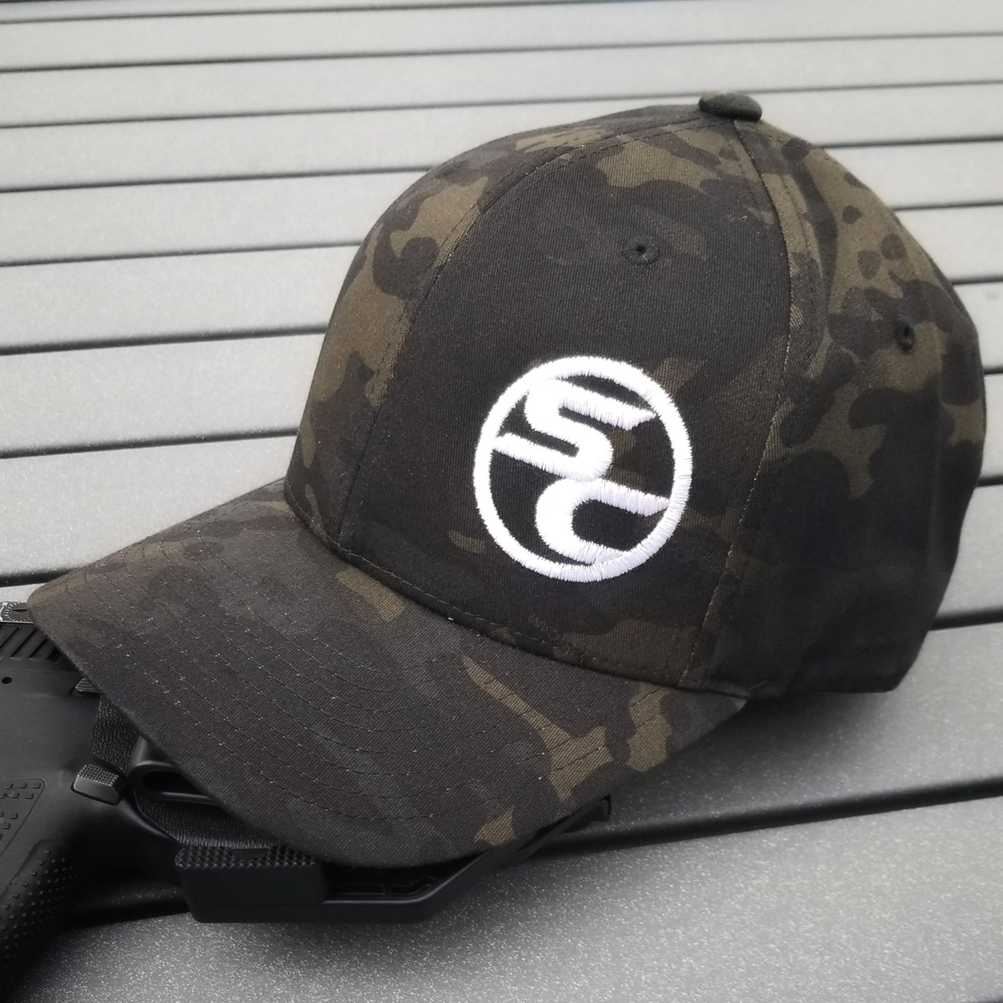 b25733b985013 SC Black MultiCam Flexfit Hat - Shook s Customs LLC