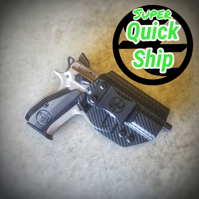 CZ P-01 IWB Holster Carbon Fiber Black (Super QuickShip)