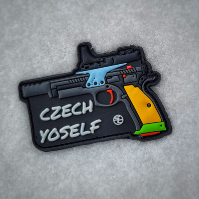 """Czech Yoself"" Parrot Patch"
