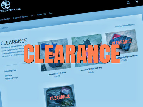 We just added some Clearance Items!