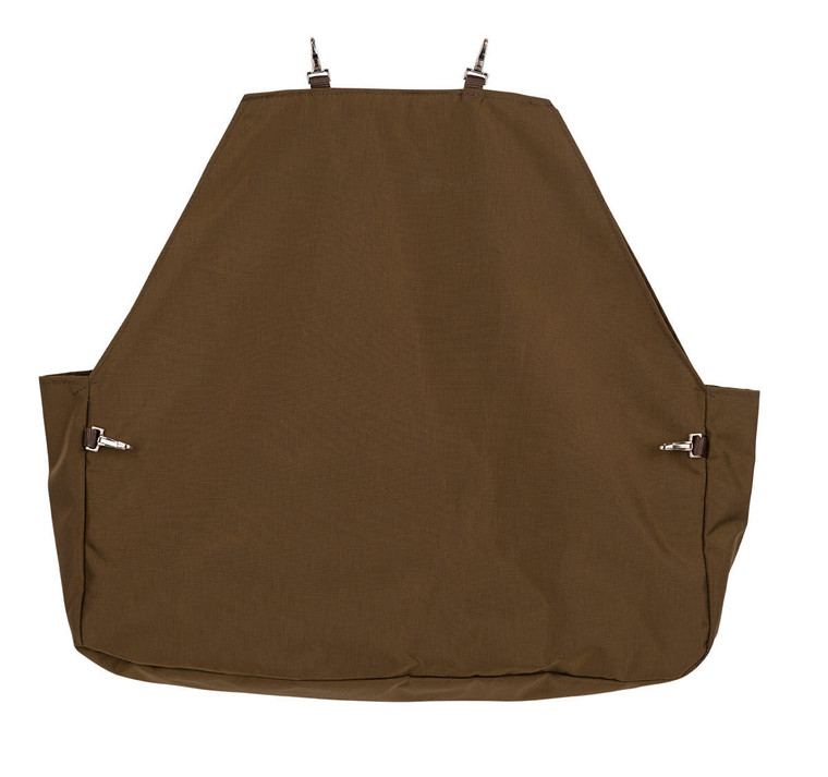 Mule Brand Hunting Clothes briarproof gamebag in brown at OKIE DOG SUPPLY