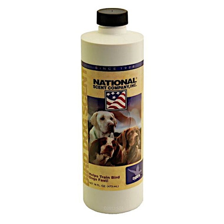 duck training scent in a 16 ounce bottle at okie dog supply