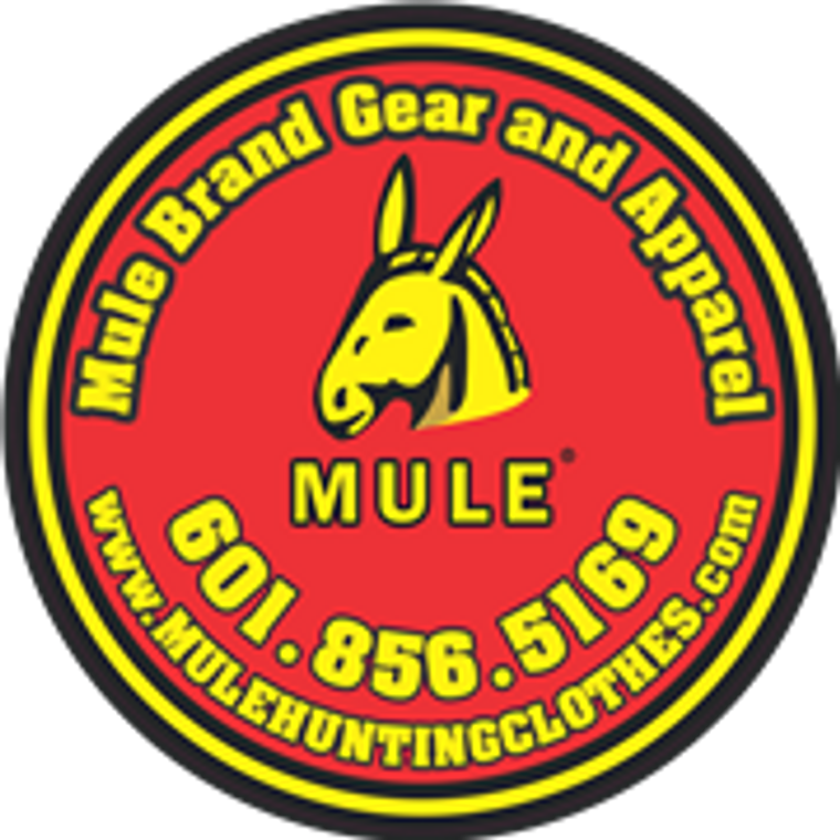 Mule Brand Decal with trademarked logo - 6 inch diameter