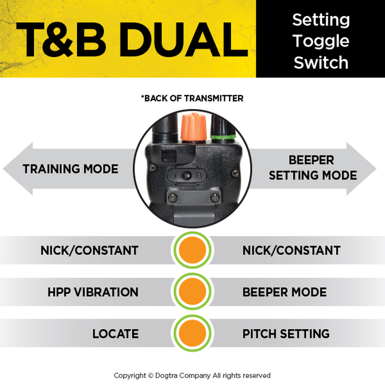 dogtra 2700 t&b transmitter beeper and training remote features